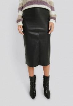 Юбка, NA-KD, цвет: черный. Артикул: NA033EWHOBV5. Одежда / Юбки