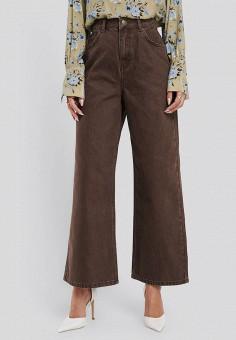 Брюки, NA-KD, цвет: коричневый. Артикул: NA033EWHYVB9. Одежда / Брюки