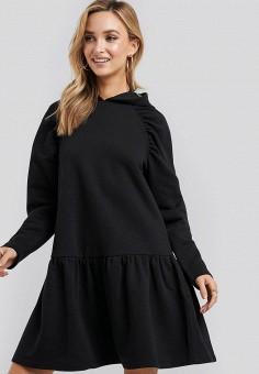 Платье, NA-KD, цвет: черный. Артикул: NA033EWINJB8.