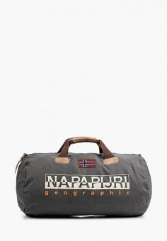Сумка спортивная, Napapijri, цвет: серый. Артикул: NA154BUIOQX4.