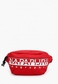 Сумка поясная, Napapijri, цвет: красный. Артикул: NA154BUIOQZ4.