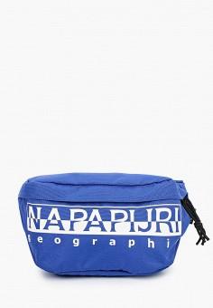 Сумка поясная, Napapijri, цвет: синий. Артикул: NA154BUIOQZ5.