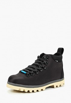 Ботинки, Native, цвет: черный. Артикул: NA723AUCCCO8. Обувь / Ботинки / Низкие ботинки