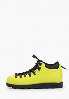 Ботинки, Native, цвет: зеленый. Артикул: NA723AUGLSU7. Обувь / Ботинки / Низкие ботинки