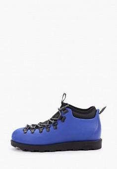 Ботинки, Native, цвет: синий. Артикул: NA723AUGLVW1. Обувь / Ботинки / Низкие ботинки