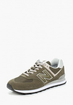 Кроссовки, New Balance, цвет: зеленый. Артикул: NE007AMAGGD8.