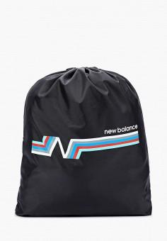 Мешок, New Balance, цвет: черный. Артикул: NE007BUHORH1. Аксессуары / Рюкзаки