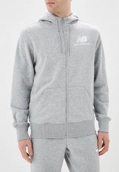Толстовка, New Balance, цвет: серый. Артикул: NE007EMEAXP1.