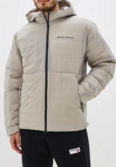 Пуховик, New Balance, цвет: бежевый. Артикул: NE007EMFNIP2. Одежда / Верхняя одежда / Пуховики и зимние куртки / Пуховики