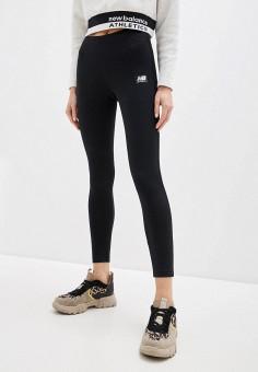 Леггинсы, New Balance, цвет: черный. Артикул: NE007EWHOSP1. Одежда / Брюки / Леггинсы