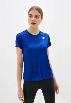 Футболка спортивная, New Balance, цвет: синий. Артикул: NE007EWHOSS9.