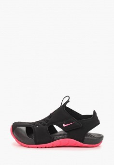 Сандалии, Nike, цвет: черный. Артикул: NI464AGDSJR3. Девочкам / Спорт