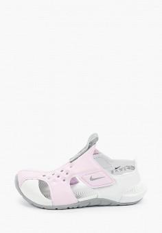Сандалии, Nike, цвет: розовый. Артикул: NI464AGHVUU3. Девочкам / Спорт