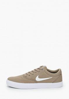 Кеды, Nike, цвет: бежевый. Артикул: NI464AMHVQH6. Обувь / Кроссовки и кеды / Кеды