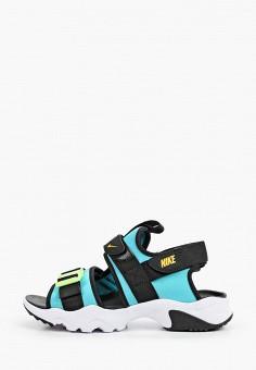 Сандалии, Nike, цвет: бирюзовый. Артикул: NI464AWHVSH2. Обувь / Сандалии