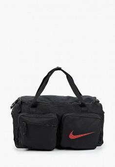 Сумка спортивная, Nike, цвет: черный. Артикул: NI464BMHTFS2. Аксессуары / Сумки