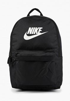 Рюкзак, Nike, цвет: черный. Артикул: NI464BUFLAP4. Аксессуары / Рюкзаки / Рюкзаки