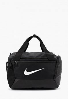 Сумка спортивная, Nike, цвет: черный. Артикул: NI464BUFLAU2. Аксессуары / Сумки