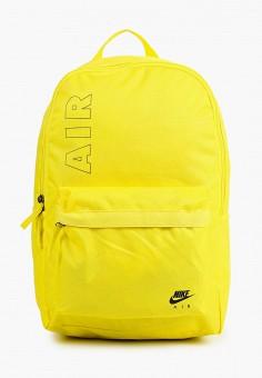 Рюкзак, Nike, цвет: желтый. Артикул: NI464BUHTFY4. Аксессуары / Рюкзаки / Рюкзаки