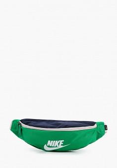 Сумка поясная, Nike, цвет: зеленый. Артикул: NI464BUJNAS4. Аксессуары / Сумки