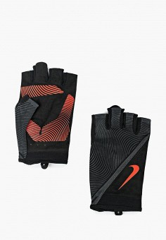 Перчатки для фитнеса, Nike, цвет: черный. Артикул: NI464DMRRA88. Аксессуары / Перчатки и варежки