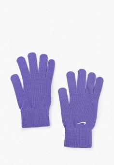Перчатки, Nike, цвет: фиолетовый. Артикул: NI464DUILDZ7. Аксессуары / Перчатки и варежки