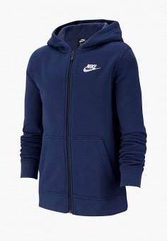 Толстовка, Nike, цвет: синий. Артикул: NI464EBFMCY7. Мальчикам / Одежда