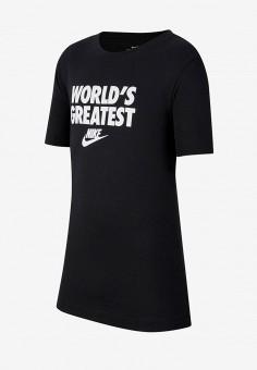 Футболка, Nike, цвет: черный. Артикул: NI464EBIUKT0. Мальчикам / Одежда