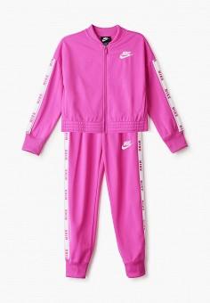 Костюм спортивный, Nike, цвет: розовый. Артикул: NI464EGHUSW2. Девочкам / Спорт