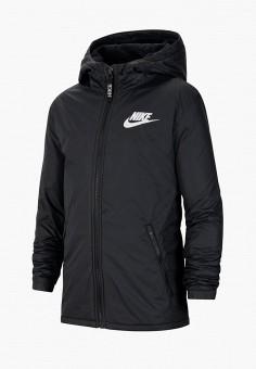Куртка утепленная, Nike, цвет: черный. Артикул: NI464EKJVBE4. Девочкам / Одежда / Верхняя одежда / Куртки и пуховики