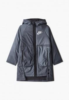 Куртка утепленная, Nike, цвет: серый. Артикул: NI464EKJWUB1.