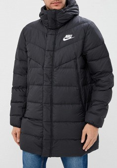 Пуховик, Nike, цвет: черный. Артикул: NI464EMBWIP9. Одежда / Верхняя одежда / Пуховики и зимние куртки