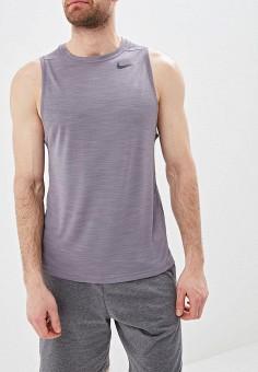 Майка спортивная, Nike, цвет: серый. Артикул: NI464EMETRA3. Одежда / Майки
