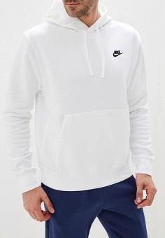 Худи, Nike, цвет: белый. Артикул: NI464EMFLCH2. Одежда / Толстовки и олимпийки / Худи