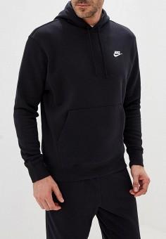 Худи, Nike, цвет: черный. Артикул: NI464EMFLCH7. Одежда / Толстовки и олимпийки / Худи