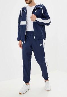 Костюм спортивный, Nike, цвет: синий. Артикул: NI464EMFLCL0. Одежда / Спортивные костюмы