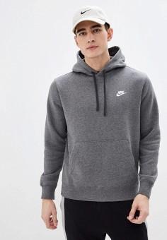 Худи, Nike, цвет: серый. Артикул: NI464EMHTXR8. Одежда / Толстовки и олимпийки / Худи