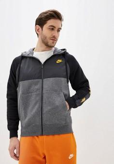 Толстовка, Nike, цвет: серый. Артикул: NI464EMHUBW3. Одежда