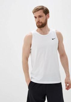 Майка спортивная, Nike, цвет: белый. Артикул: NI464EMHUFH4. Одежда / Майки