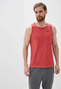 Майка спортивная, Nike, цвет: красный. Артикул: NI464EMHUFH6. Одежда / Майки