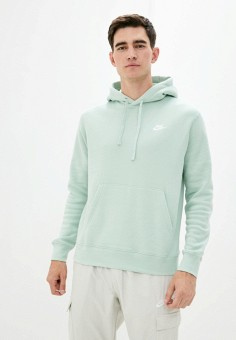Худи, Nike, цвет: зеленый. Артикул: NI464EMHUIM5. Одежда / Толстовки и олимпийки / Худи