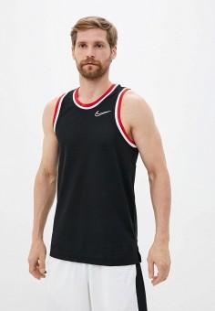 Майка спортивная, Nike, цвет: черный. Артикул: NI464EMHUIR9. Одежда / Майки