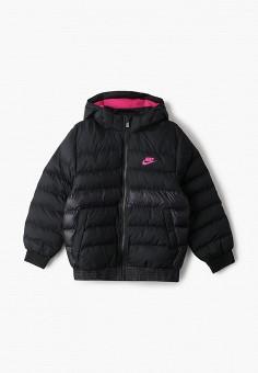 Пуховик, Nike, цвет: черный. Артикул: NI464EMICQF1. Одежда / Верхняя одежда / Пуховики и зимние куртки / Пуховики