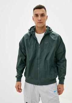 Ветровка, Nike, цвет: зеленый. Артикул: NI464EMJOCU6. Одежда / Верхняя одежда / Легкие куртки и ветровки