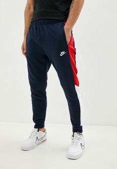 Брюки спортивные, Nike, цвет: синий. Артикул: NI464EMJOEK7. Одежда / Брюки / Спортивные брюки