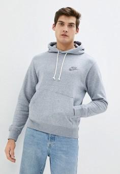 Худи, Nike, цвет: серый. Артикул: NI464EMJOEL6. Одежда / Толстовки и олимпийки / Худи