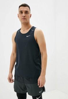 Майка спортивная, Nike, цвет: черный. Артикул: NI464EMJOFP3. Одежда / Майки