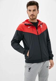 Ветровка, Nike, цвет: черный. Артикул: NI464EMJOFR3. Одежда / Верхняя одежда / Легкие куртки и ветровки