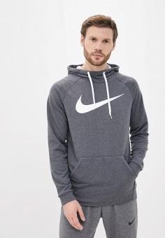 Худи, Nike, цвет: серый. Артикул: NI464EMJSUS2. Одежда / Толстовки и олимпийки / Худи