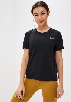 Футболка спортивная, Nike, цвет: черный. Артикул: NI464EWDNMX2. Одежда / Футболки и поло
